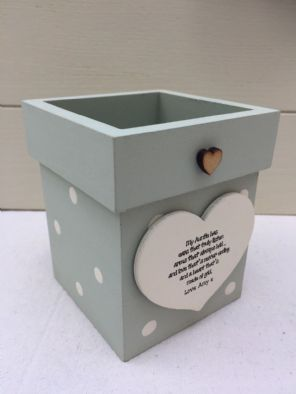 Personalised Shabby Flower Pot Chic Aunty Auntie Gift Great Aunt ANY NAME - 332363955167
